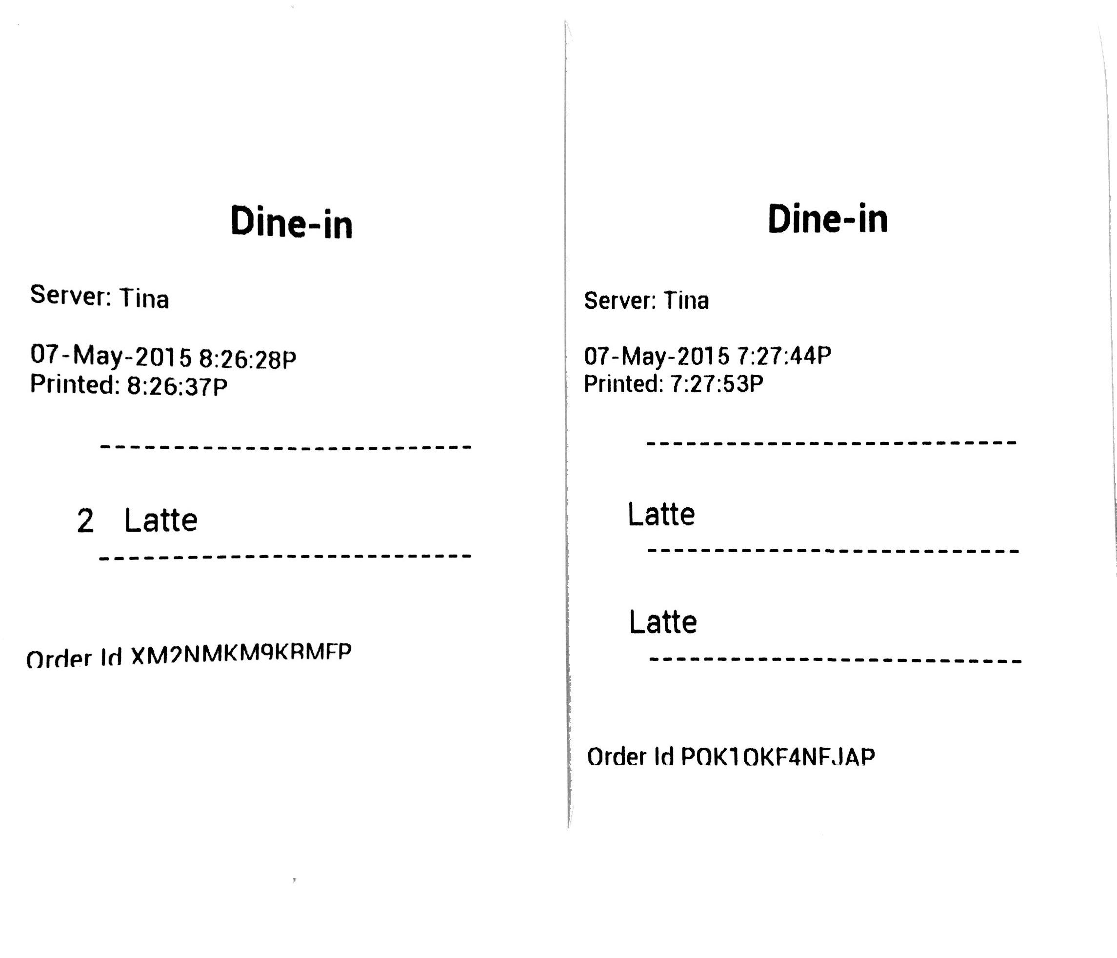 Order Receipts – Receipt